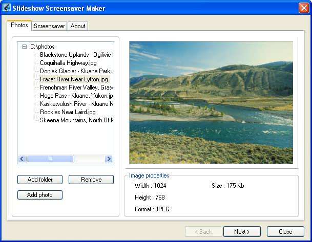 Slideshow Screensaver Maker Screenshot